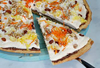 Carrot Cake Dessert Pizza