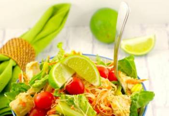 Thai Chicken Noodle Salad With Peanut Lime Dressing