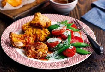 Southern Style Chicken With Buffalo Sauce