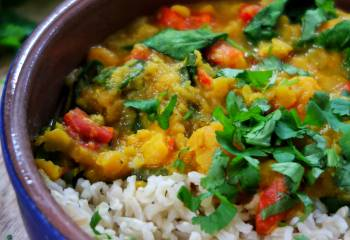 Slow-Cooker Sweet Potato, Lentil And Coconut Curry