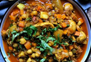 Vegan Mushroom, Chickpea And Green Lentil Curry