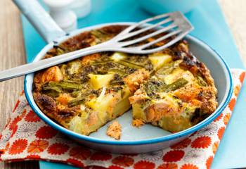 Slimming Worlds Salmon, Asparagus And Potato Frittata Recipe