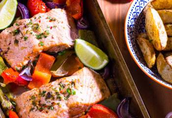 Chilli And Lime Baked Salmon