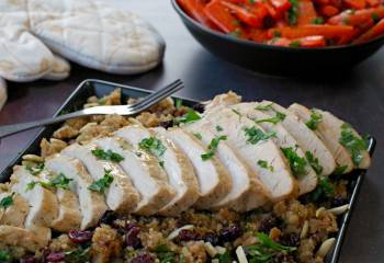 Slow Cooker Turkey Breast With Quinoa Cranberry Dressing (Ww Friendly &Amp; Gluten-Free)
