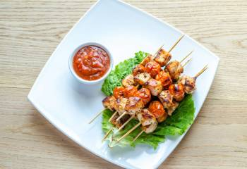 Syn Free Chicken Tikka Skewers With Tomato Salsa | Slimming World Recipe
