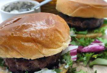 Healthy Minted Lamb Burgers | Slimming Friendly