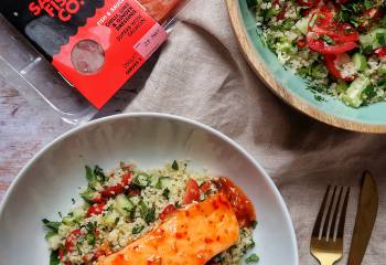 Salmon With Chilli, Lime &Amp; Ginger And A Thai-Style Tabbouleh