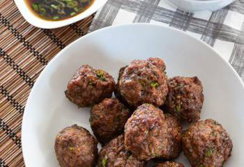 Asian Spiced Chicken Meatballs
