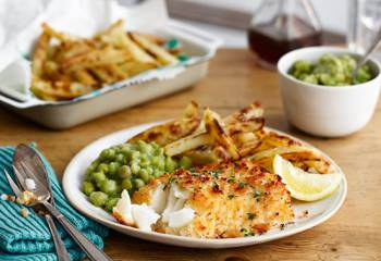 Fish, Slimming World Chips And Peas