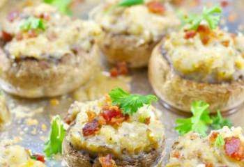 Easy Pierogi Stuffed Mushrooms- Weight Watchers Friendly