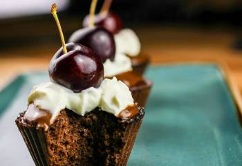 1 Syn Black Forest Scan Bran Cupcakes