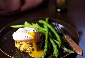 Bubble And Squeak Cakes With Poached Eggs
